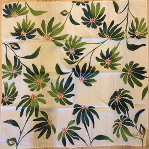 NICOLE MILLER-Sweet Daisy Print Silk Scarf
